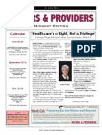 Payers & Providers Midwest Edition – Issue of June 21, 2011