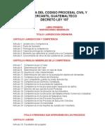 Esquema Del Codigo Procesal Civil y Mercantil Guatemalteco