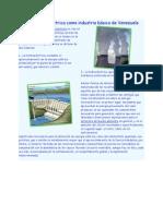 La energía eléctrica como industria básica de Venezuela
