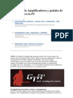 Emulador de Amplificadores y Pedales de Guitarra Para La PC