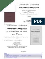 G.van Rijnberk-Un Thaumaturge Au 18eme Siecle Martinez de Pasqually