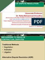 CE & M- Methods of Dispute Resolution