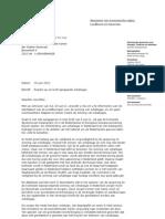 Kamerbrief Reactie Brief Tweede Kamer Schaliegas