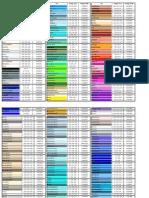 TI - Tabela de Cores HTML e JAVA