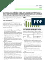 Fact Sheet Energy