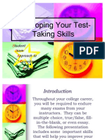 Developing Your Test Taking Skills