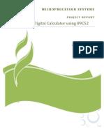 Digital Calulator Using 89C52 micro controller