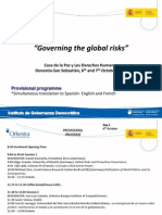 Governing the Global Risks Programme