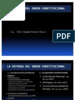 La Defensa Del Orden Constitucional