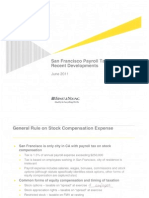 San Francisco Payroll Tax Recent Developments