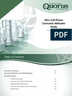 Quorus 2011 Cell Phone Consumer Attitudes Study