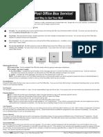 Post Office Box Service Application