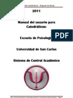 Manual de Notas Catedraticos 2011