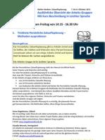 Zukunftsplanungs Tagung Berlin 7. & 8. Oktober 2011