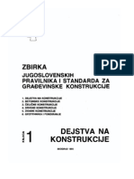 1. Zbirka Jugoslovenskih Pravilnika i Standarda Za Gradjevinske Konstrukcije - DeJSTVA NA KONSTRU