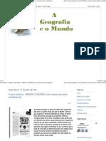 A Geografia e o Mundo_ Fusos horários - BRASIL E MUNDO (com exercícios para vestibulares)