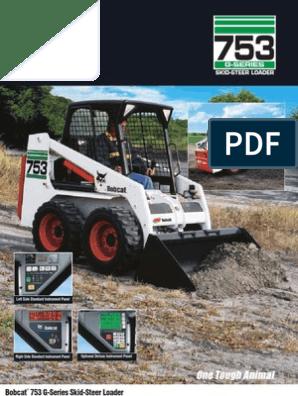 Bobcat 753 Specs   Loader (Equipment)   Automotive Technologies