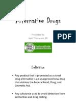 Alternative Drugs CCPD Pres.
