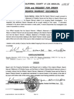 Declaation and request of order sealing search warrant documents