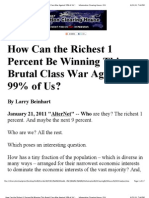 How Can the Richest 1 Percent Be Winning This Brutal Class War Against 99% of Us