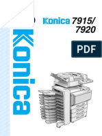 Konica 7920 User Manual