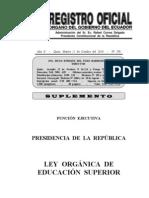 Ley Organica Educacion Superior