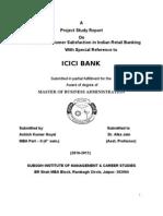 Ashish Project Report on Icici Bank