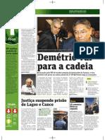 Demétrio vai para a cadeia - Jornal Metro / Ed. Campinas 27/Mai/2011 pg 2