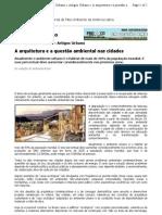 A arquitetura e a questão ambiental nas cidades
