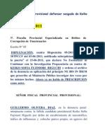 CONOZCAN AL FISCAL PROVINCIAL PROVISIONAL QUE MANDO ARCHIVAR EL CASOCaso N° 102-2011  DE KEIKO FUJIMORI
