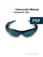 User Manual of 720P HD Sunglasses Video Recorder