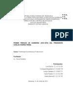 Gestion Del Primer Gobierno de Carlos Andres Perez
