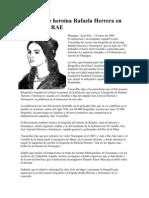 Biografía de heroína Rafaela Herrera en Diccionario RAE