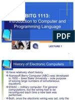 Lecture 1 Introduction to Computer and Programming Language