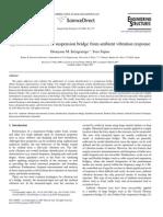 System Identification Ambient Vibration Suspension Bridge