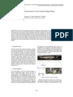 Observed Dynamic Characteristics of an Overpass Bridge During Destructive Test