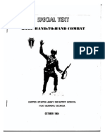U.S. Army Special Text Hand to Hand Combat Oct, 1964