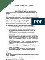 CUESTIONARIO DE PROCESAL LABORAL 1[1]