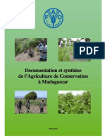 Documentation et synthèse de l'agriculture de conservation à Madagascar (FAO/2010)