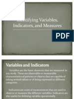 Identifying Variables, Indicators, And Measures