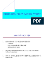 Dược liệu chứa carbonhydrate