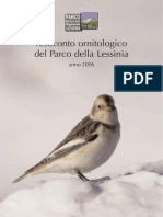 Resoconto ornitologico del Parco della Lessinia - anno 2006