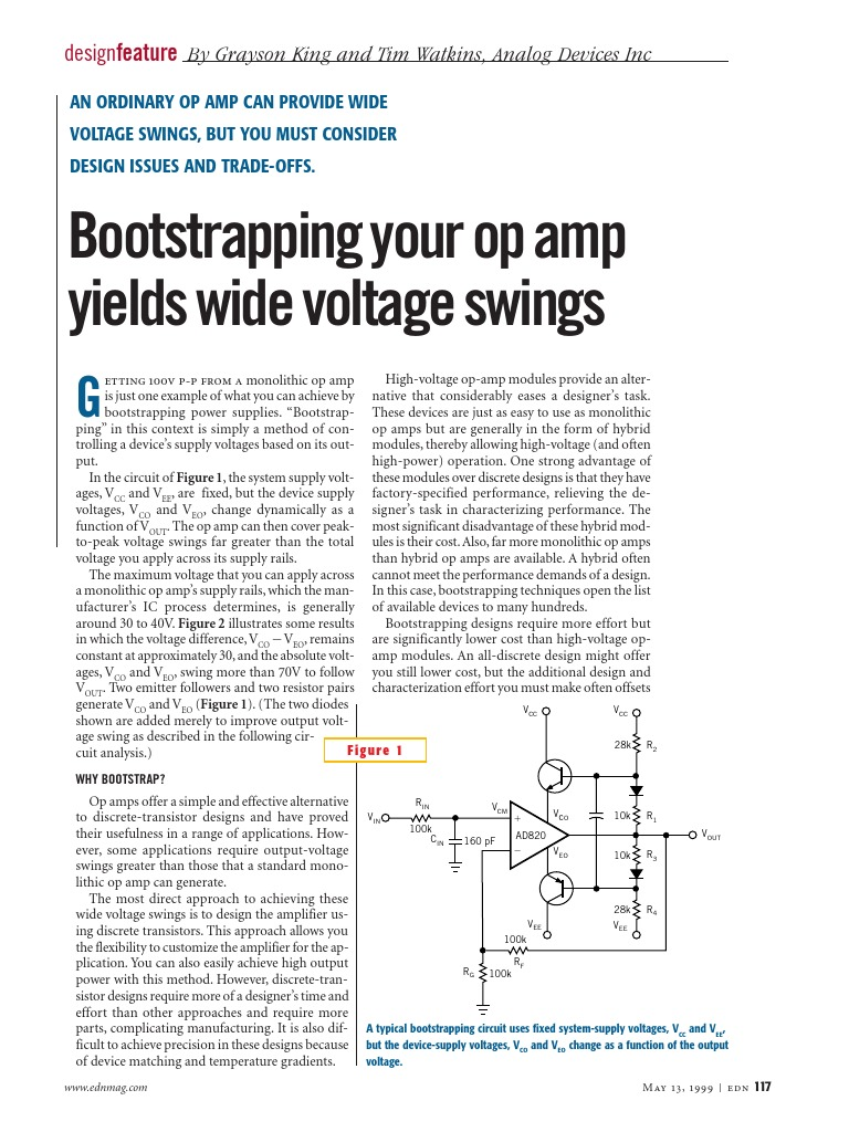 Boostrap Op Amps Operational Amplifier 20v Ultra Precision