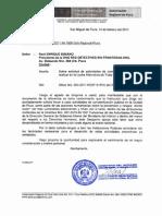 Oficio de Gobierno de Piura al Detective Privado Raúl Enrique Bibiano, Presidente de la Red Detectives Sin Fronteras Org.