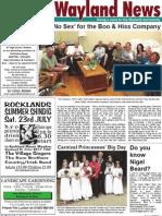 The Wayland News July 2011