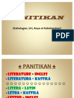 PANITIKAN Kahulugan Uri, Anyo at Kahalagahan