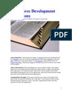 Worforce Development Definitions