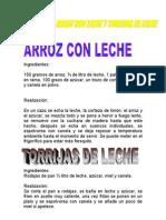 Salva Arroz Con Leche y Torrijas de Leche