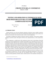 1MRA764732-WP en Testing and Operational Experiences With High Speed Distance Relay in BPA 500 kV Series Compensated N