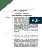 Permendag No.45 M-Dag 9 2009 (Tentang API-P)
